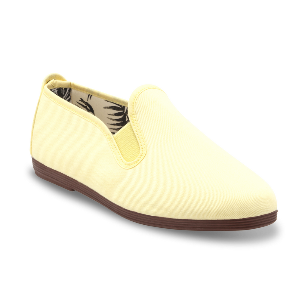 Womens Pastel Yellow Arnedo Slip on Plimsoll