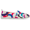 Womens Print White Rosario Slip on Plimsoll
