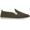 Mens Khaki Tony Slip on Plimsoll