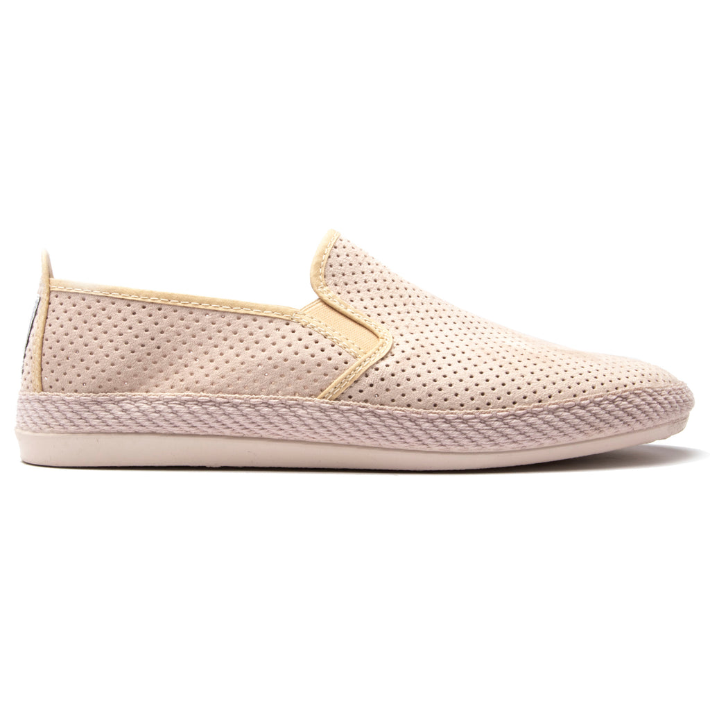 Mens Beige Vendaval Slip on Plimsoll