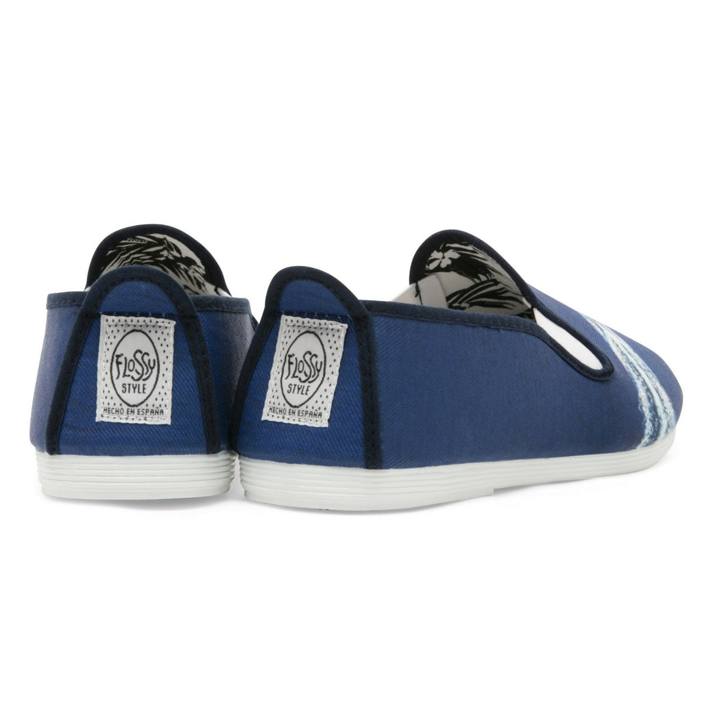 Mens Navy Albelda Slip on Plimsoll