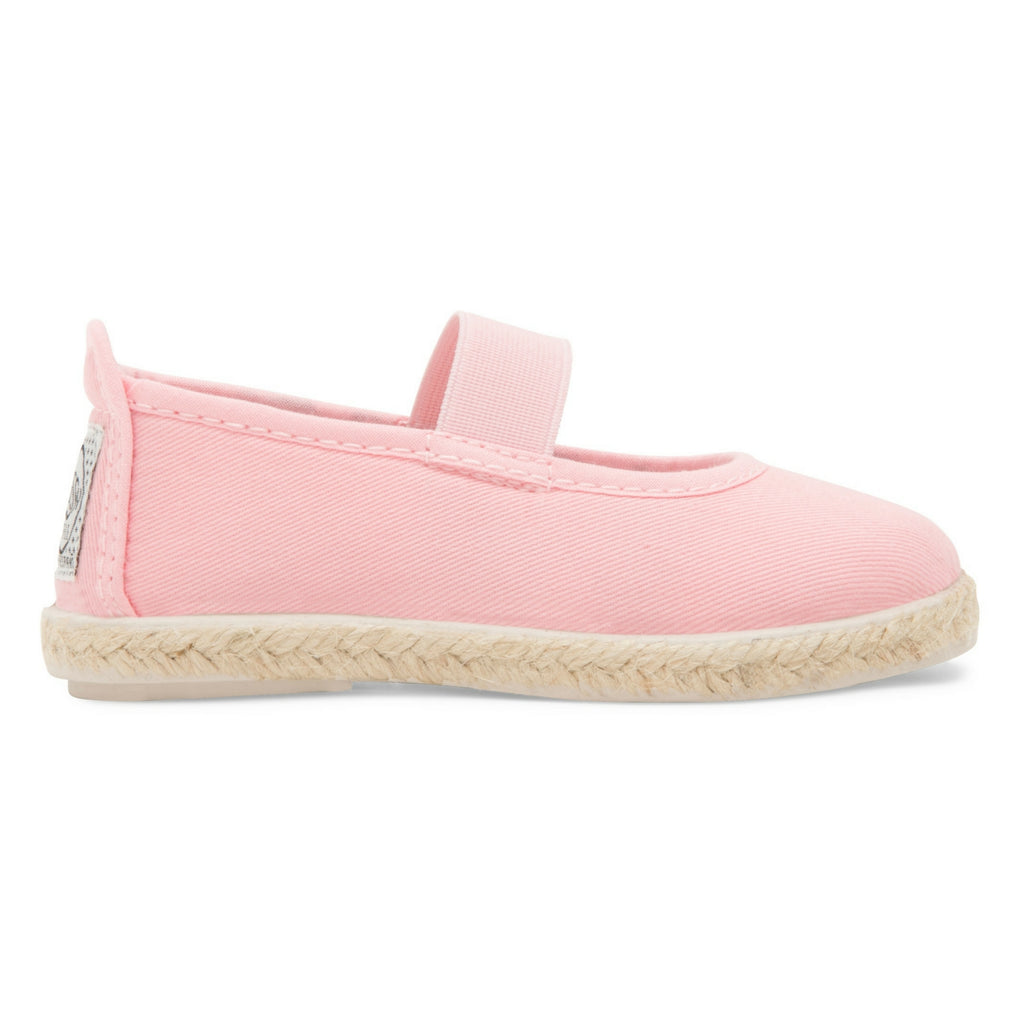 Kids Baby Pink Slip on Mary Jane Plimsoll