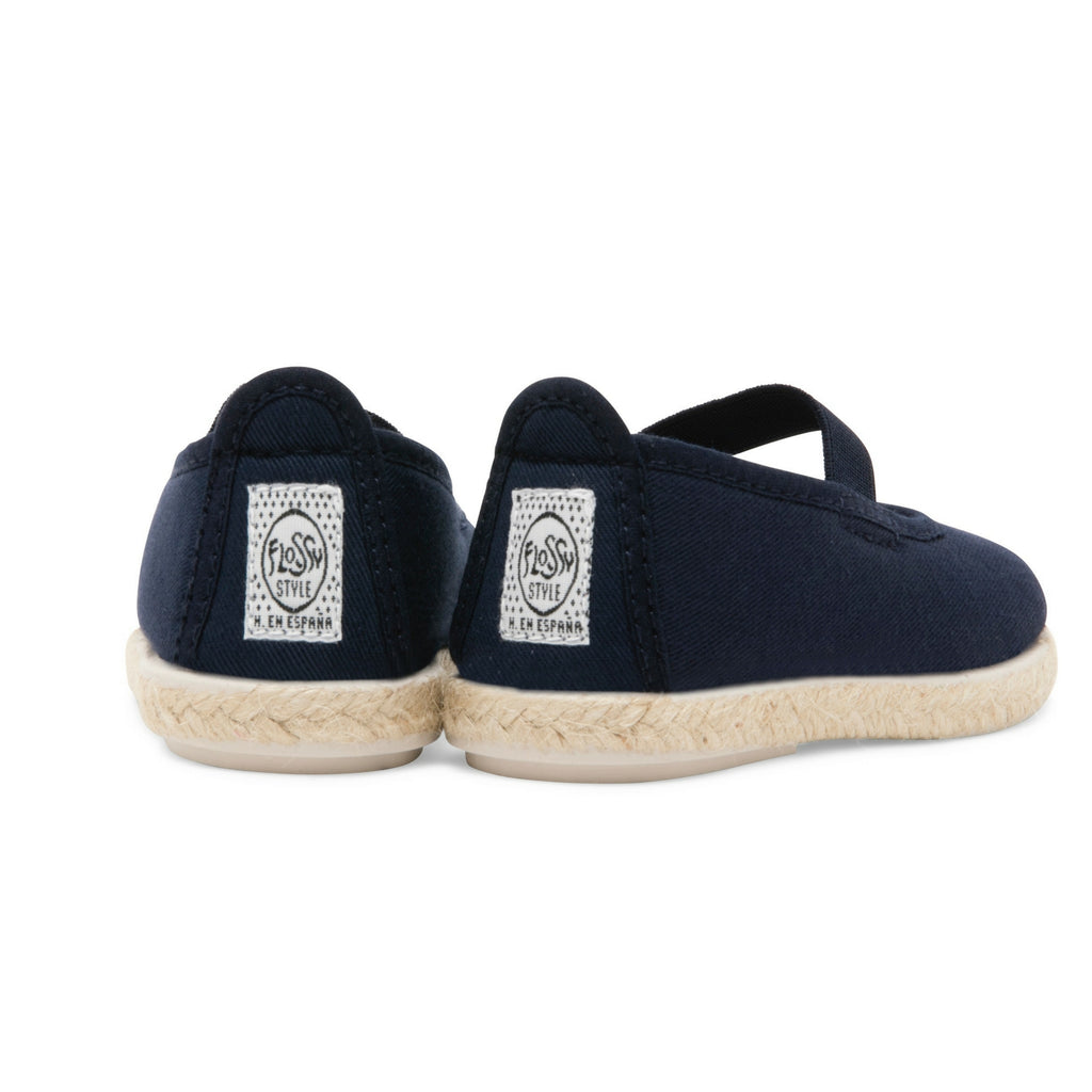 Kids Navy Slip on Mary Jane Plimsoll