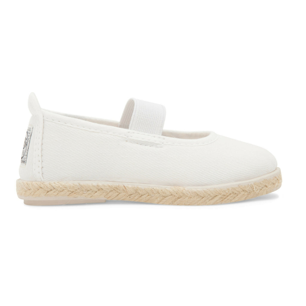 Kids White Slip on Mary Jane Plimsoll