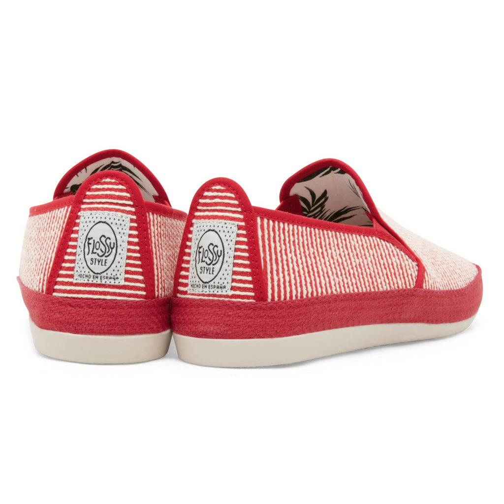 Womens Red Brieva Slip on Espadrille Plimsoll