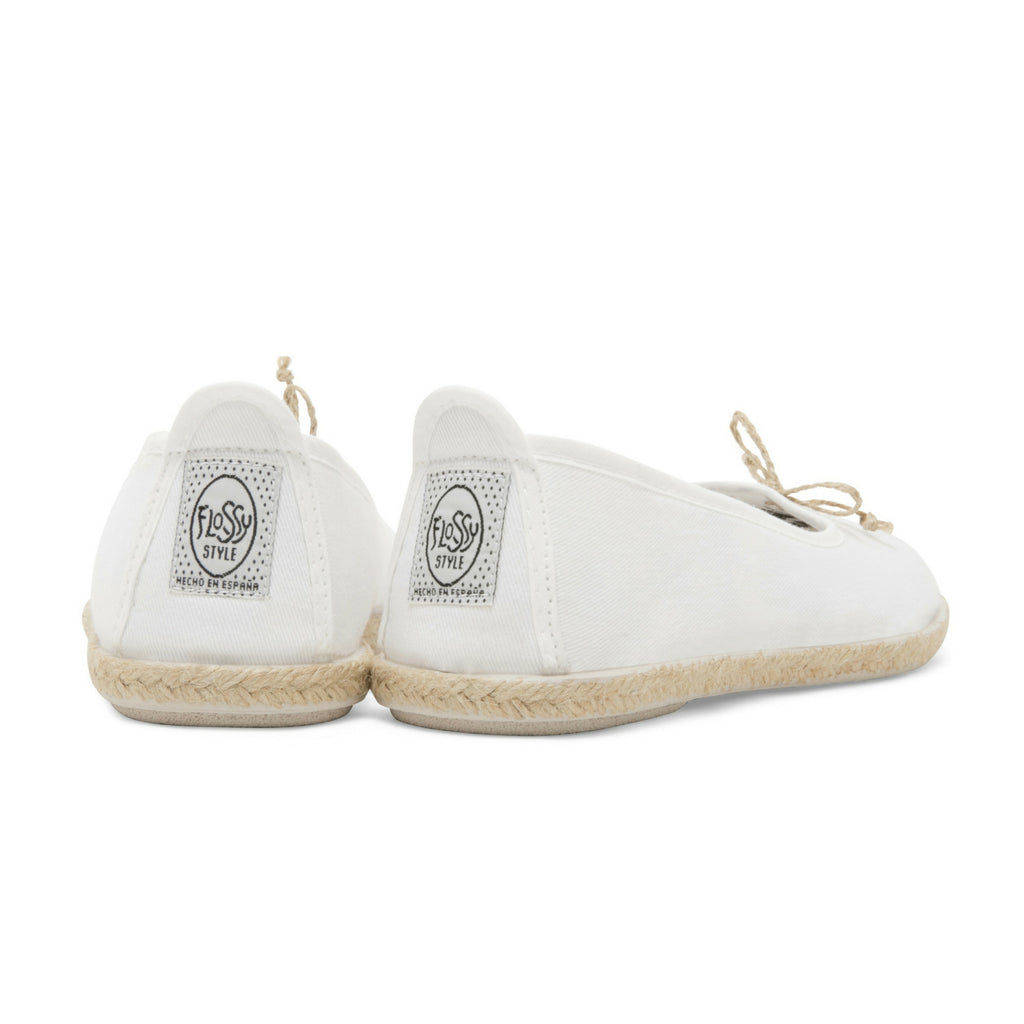 Womens White Condor Slip on Ballerina Espadrille