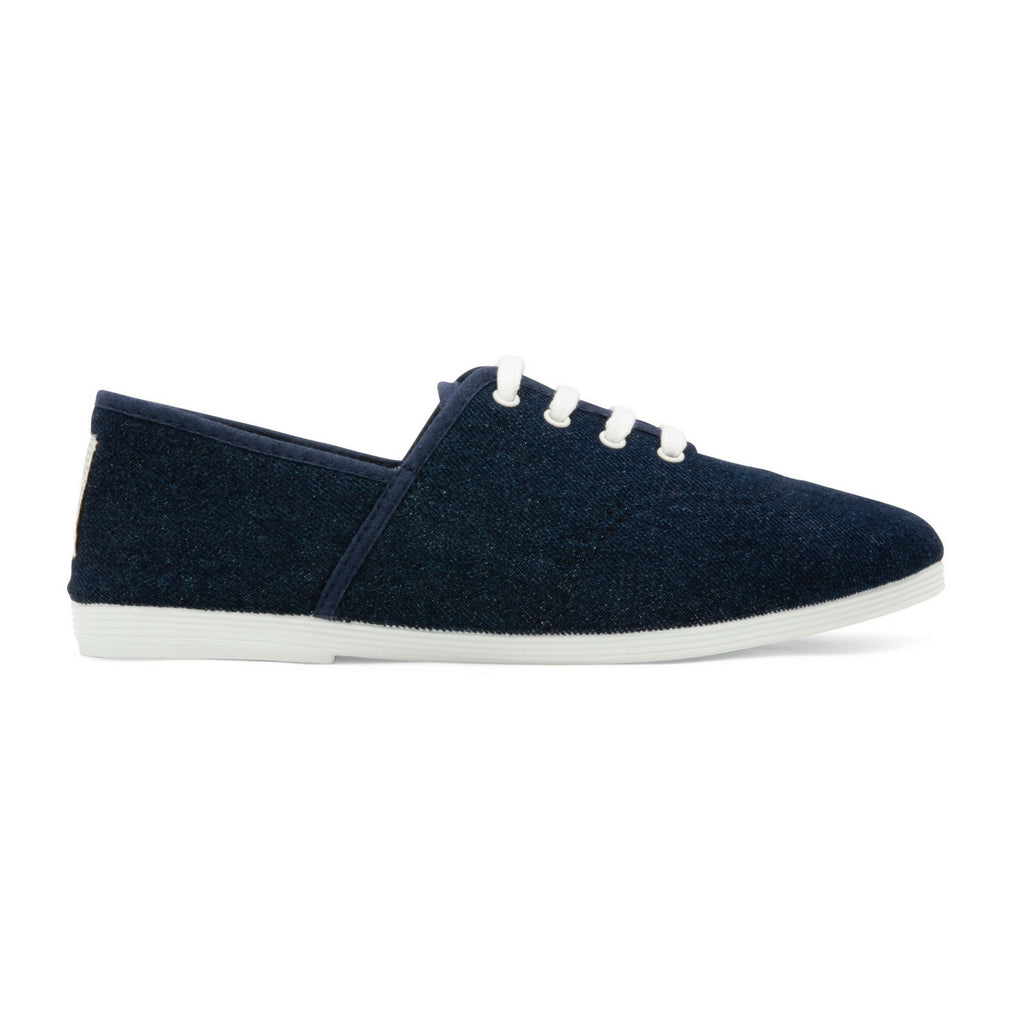 Womens Denim Costa Lace up Plimsoll