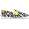 Womens Neon Yellow Ecija Slip on Plimsoll