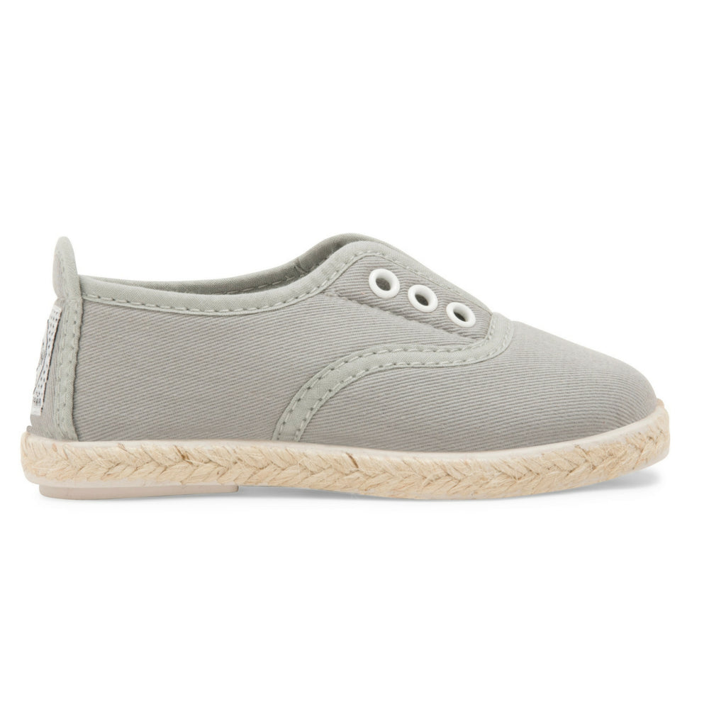 Kids Grey Goloso Slip on Espadrille Plimsoll