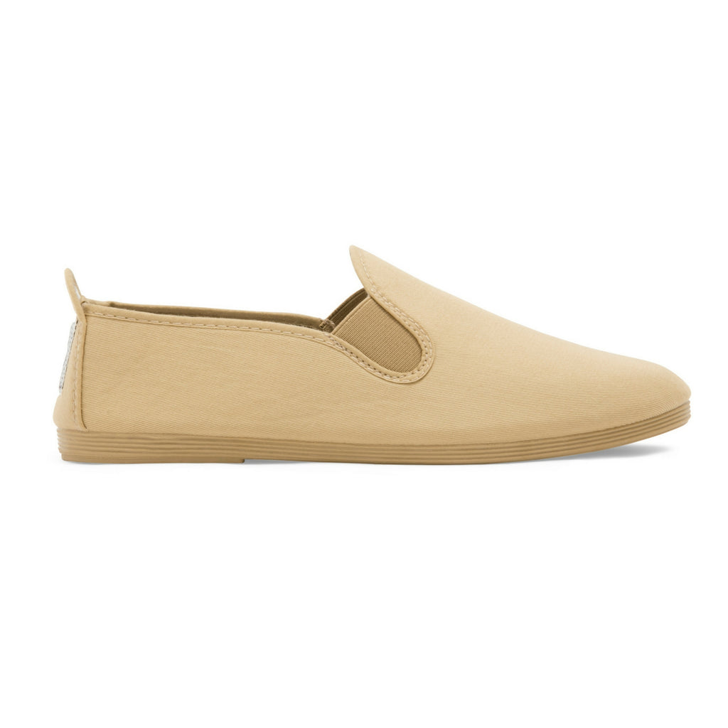 Mens Beige Guadix Slip on Plimsoll