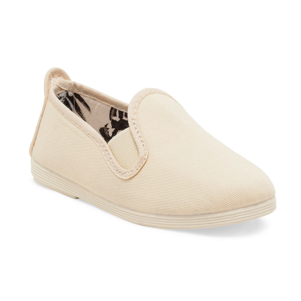 Kids Cream Guadix Slip on Plimsoll