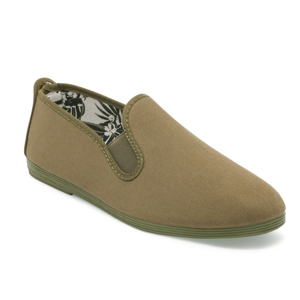 Mens Khaki Guadix Slip on Plimsoll