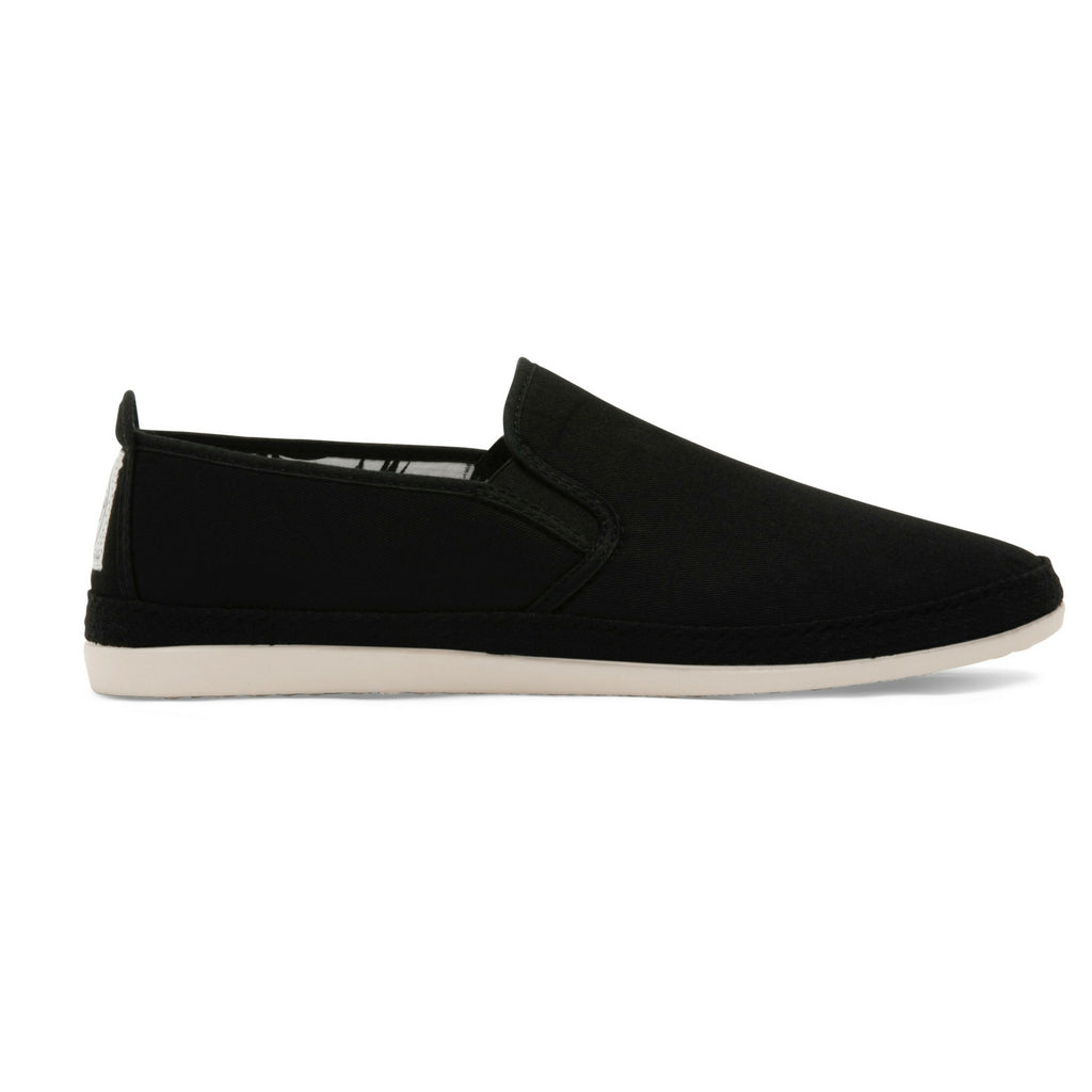 Mens Black Orla Slip on Espadrille Plimsoll