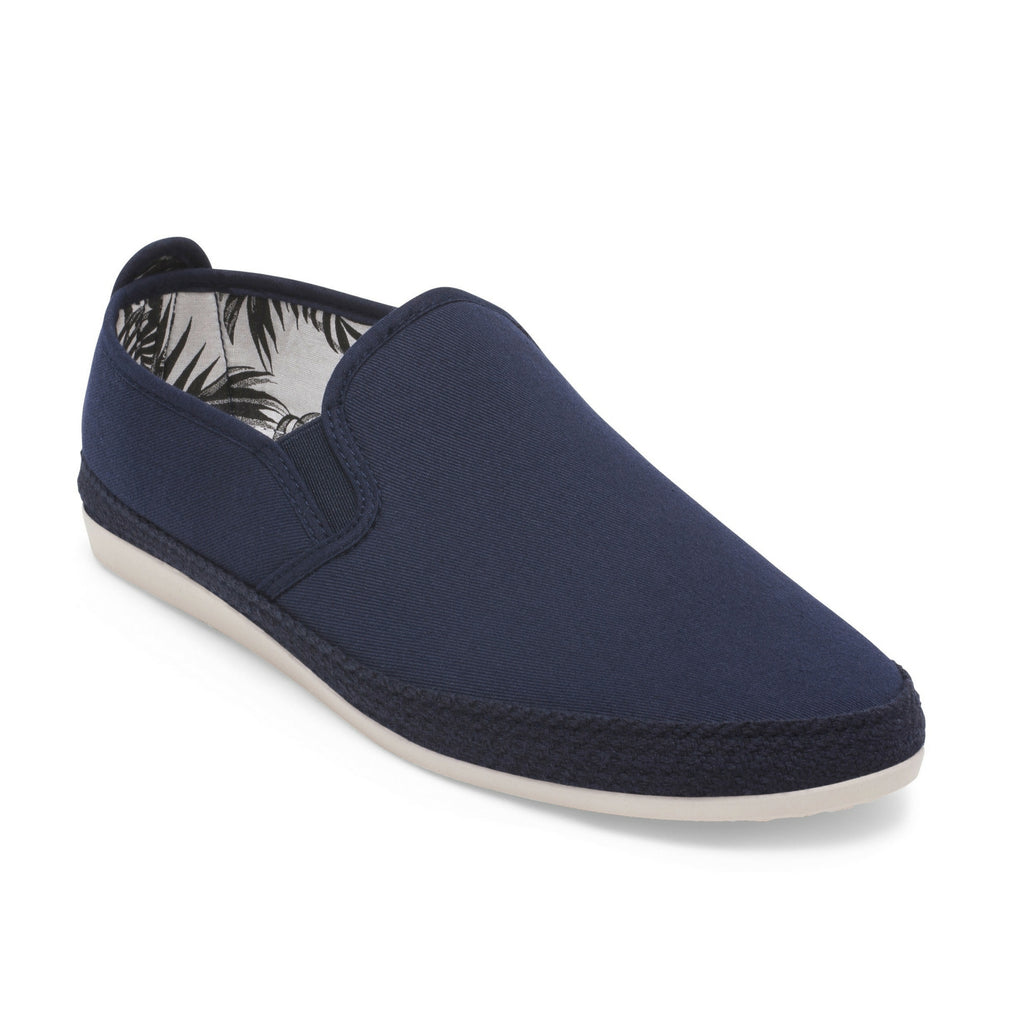 Mens Navy Orla Slip on Espadrille Plimsoll