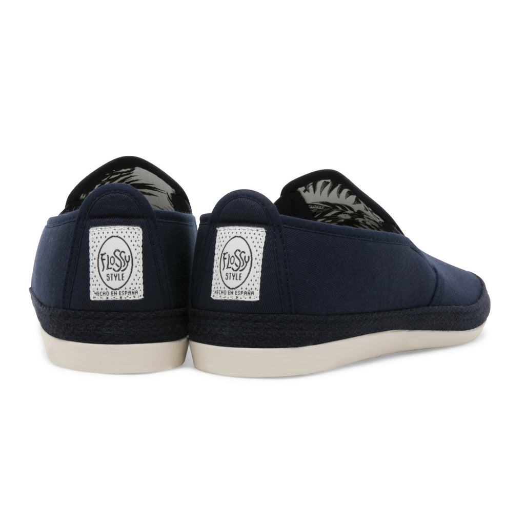 Womens Navy Orla Slip on Espadrille Plimsoll
