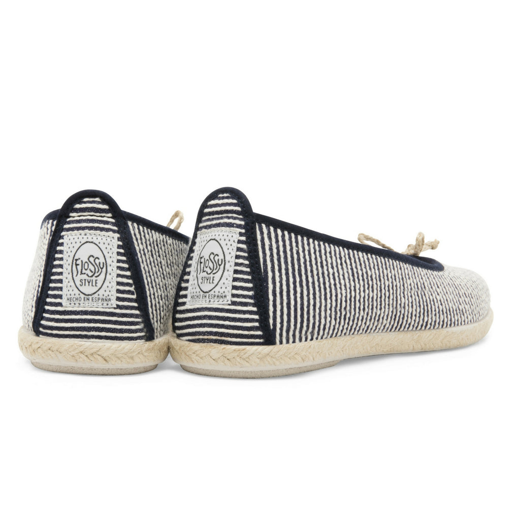 Womens Navy Sabroso Slip on Ballerina Espadrille