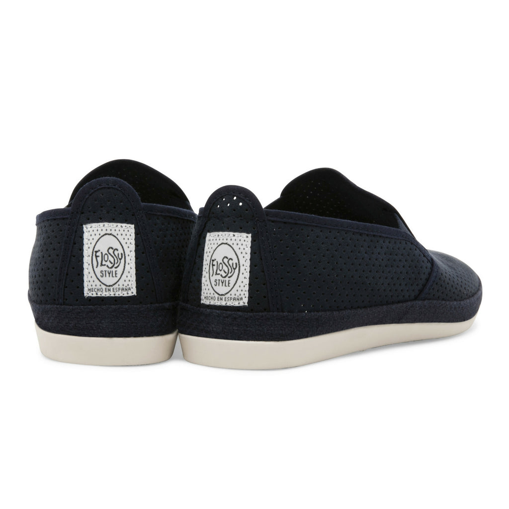 Mens Navy Vendaval Slip on Espadrille