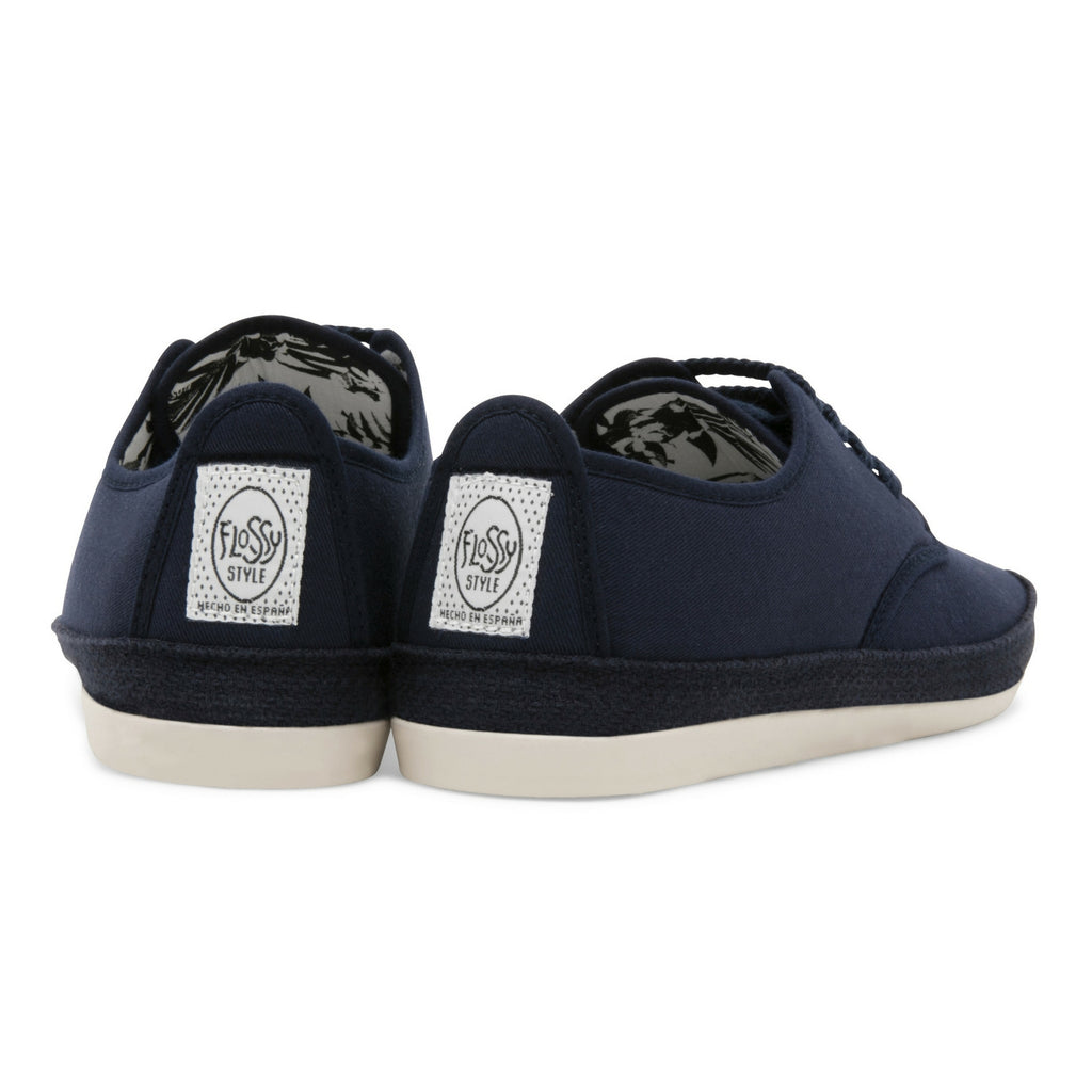Mens Navy Yago Lace up Espadrille