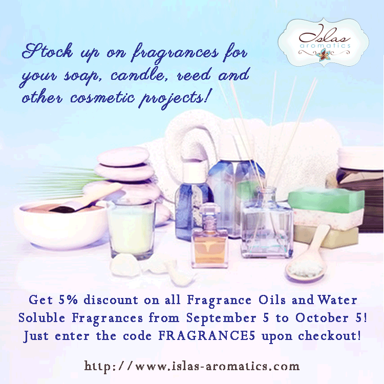 Get 5% Discount on Fragrance Oils this September!