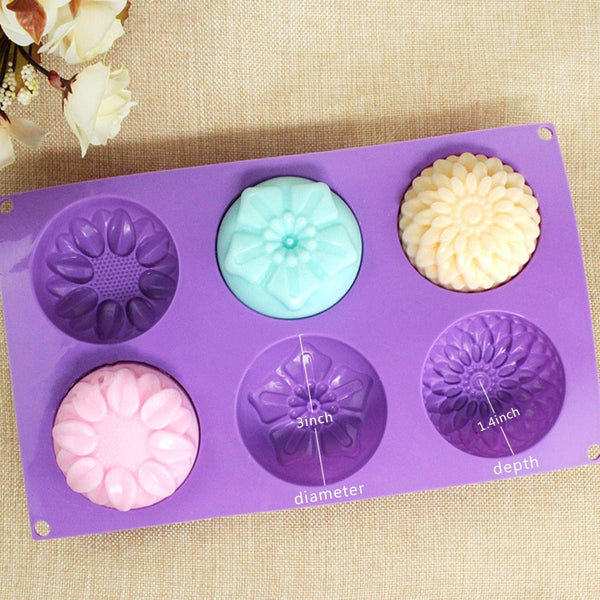 6-Cavity Silicone Flower Mold