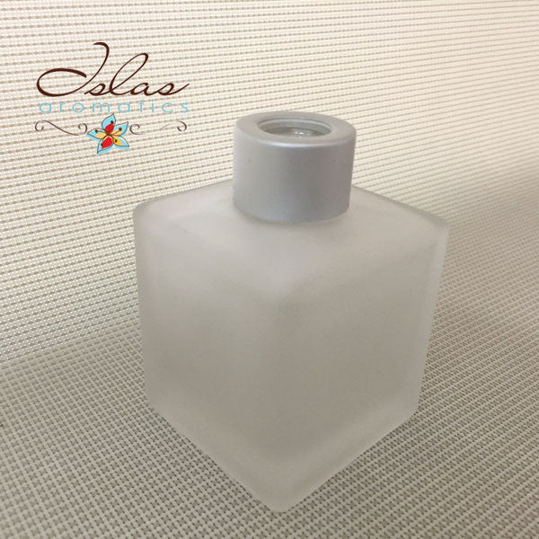150ml Frosted Glass Reed Bottle - Cube