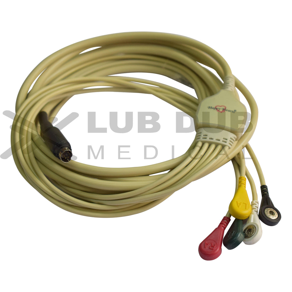Happy Hearts 5 Lead ECG Cable Compatible With MEK 7 Pin SVideo