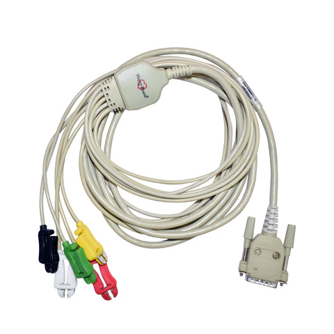5 Lead ECG Cable Compatible with Magic Rs 15 Pin Clip type - LubdubBazaar