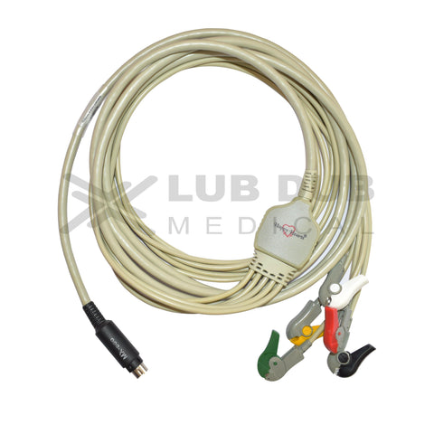 5 Lead ECG Cable Compatible with MEK  7 Pin S.Video Clip type
