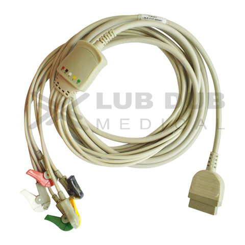 5 Lead ECG Cable Compatible with GE  11 Pin Clip type
