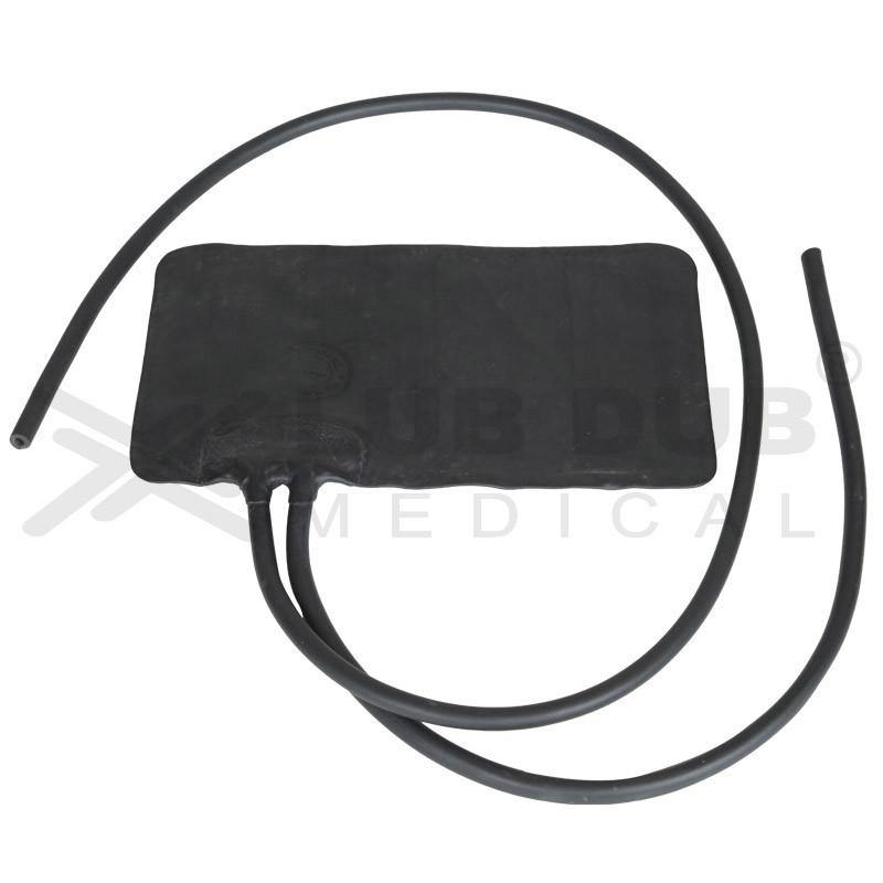 Adult BP Rubber Bladder Double Tube for Manual BP apparatus black