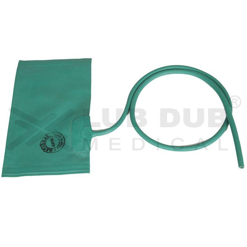 Adult BP Rubber Bladder Double Tube for Manual BP Aparatus Green