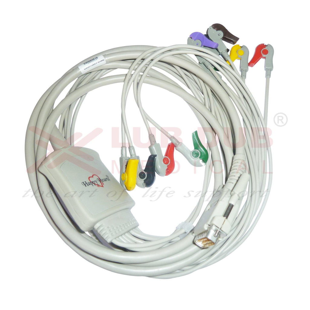 10 Lead ECG Cable  Compatible with Clarity  15 pin clip type