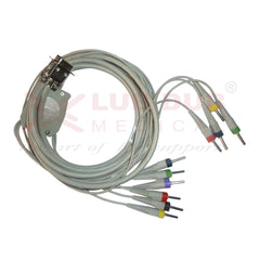10 Lead ECG Cable Compatible with cardiocom 4mm centronic connector