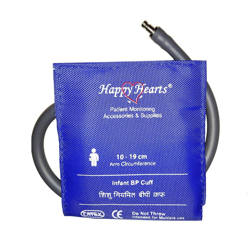 Reusable NIBP Cuff Happy Hearts Infant Single Tube 10-21cm Dark Brown