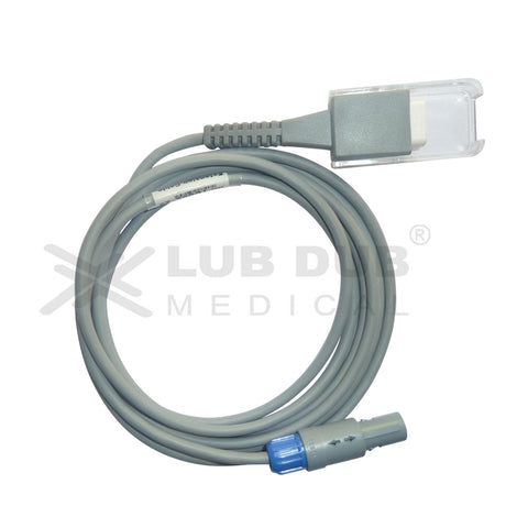 Spo2 Extension Cable Compatible with Nellcor 9 Pin Redal Male Connector Single Notch