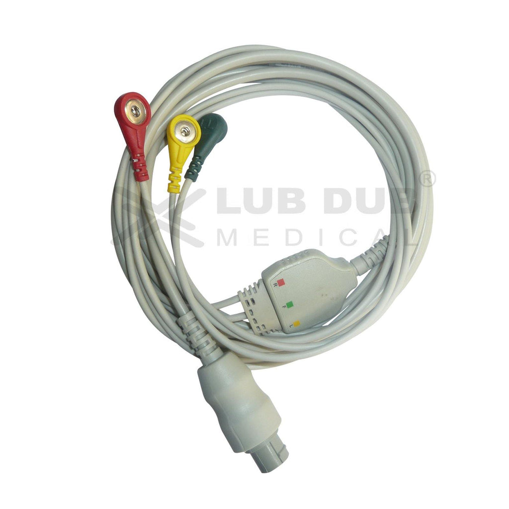 3 Lead ECG Cable Compatible with Bionet
