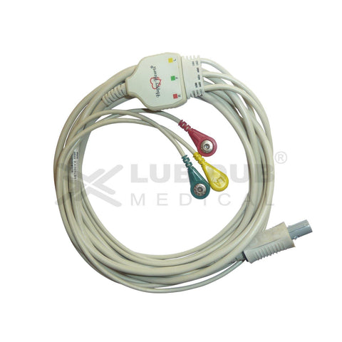 3 Lead ECG Cable Compatible with Bpl