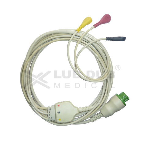 3 Lead ECG Cable Compatible with Datex
