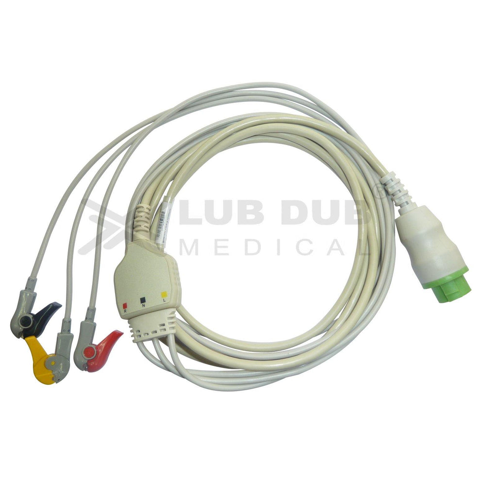 3 Lead ECG Cable Compatible with L&T