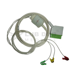 3 Lead ECG Cable Compatible with Nihonkhoden 12