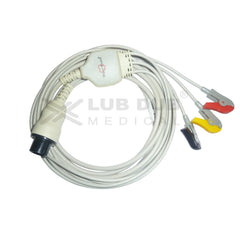 3 Lead ECG Cable Compatible with Spacelab