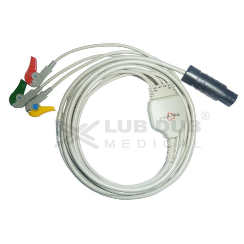 3 Lead ECG Cable Compatible with Compatible with BPL Aganta