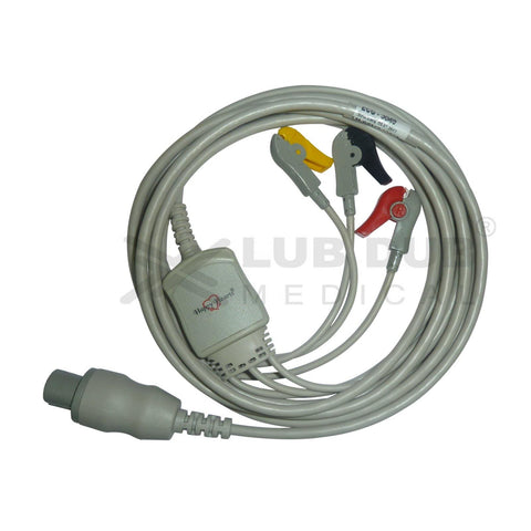 3 Lead ECG Cable Compatible with GE CardioserveDefib