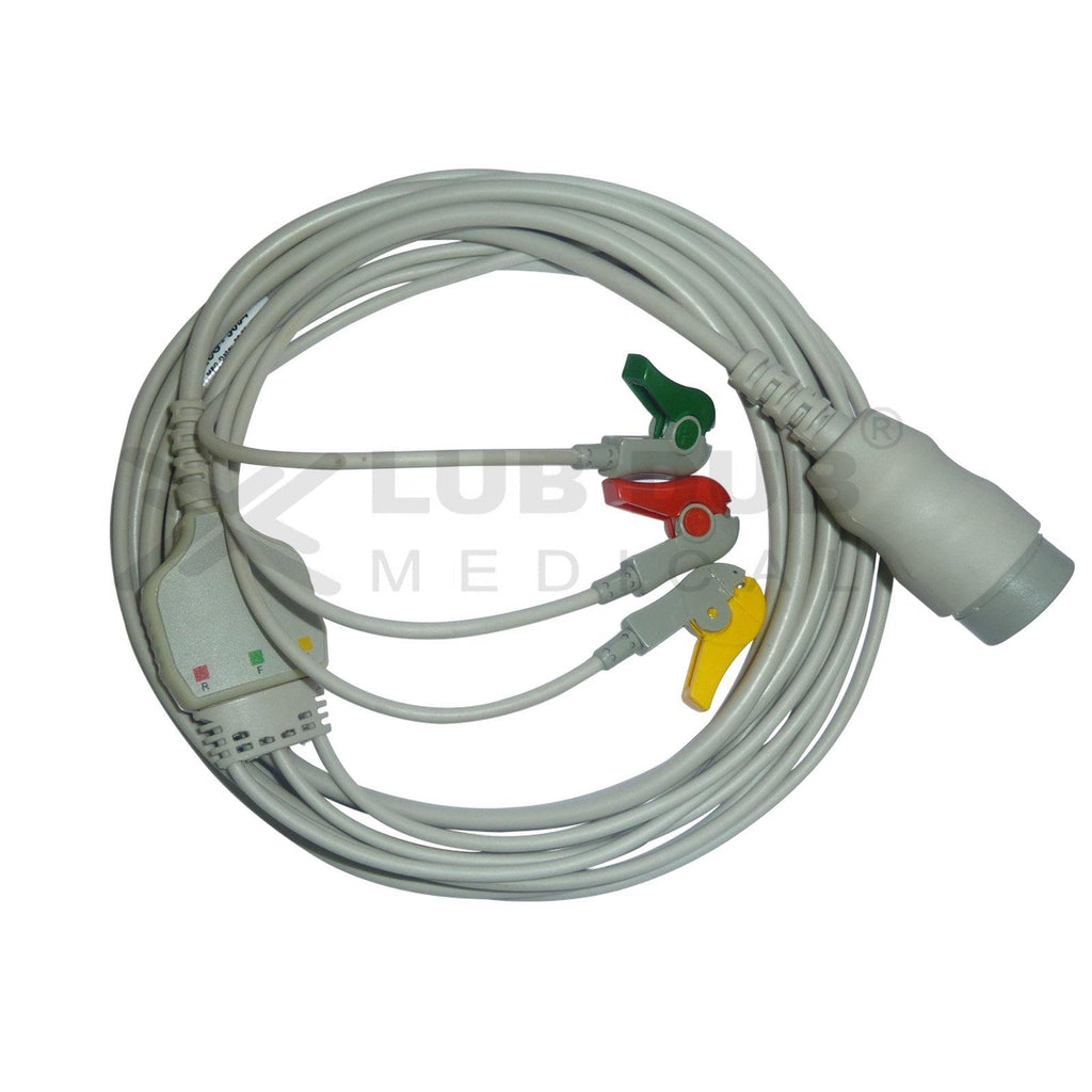 3 Lead ECG Cable Compatible with Physiocontrol
