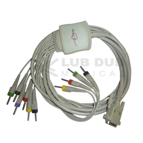 10 Lead ECG Cable  Compatible with Maestroes 4mm 15 pin Banana type