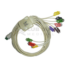 10 Lead ECG Cable  Compatible with schiller 12 pin clip type