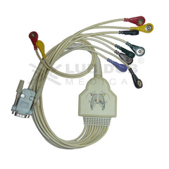 10 Lead ECG Cable Compatible with Erkadi 15 pin  snap type