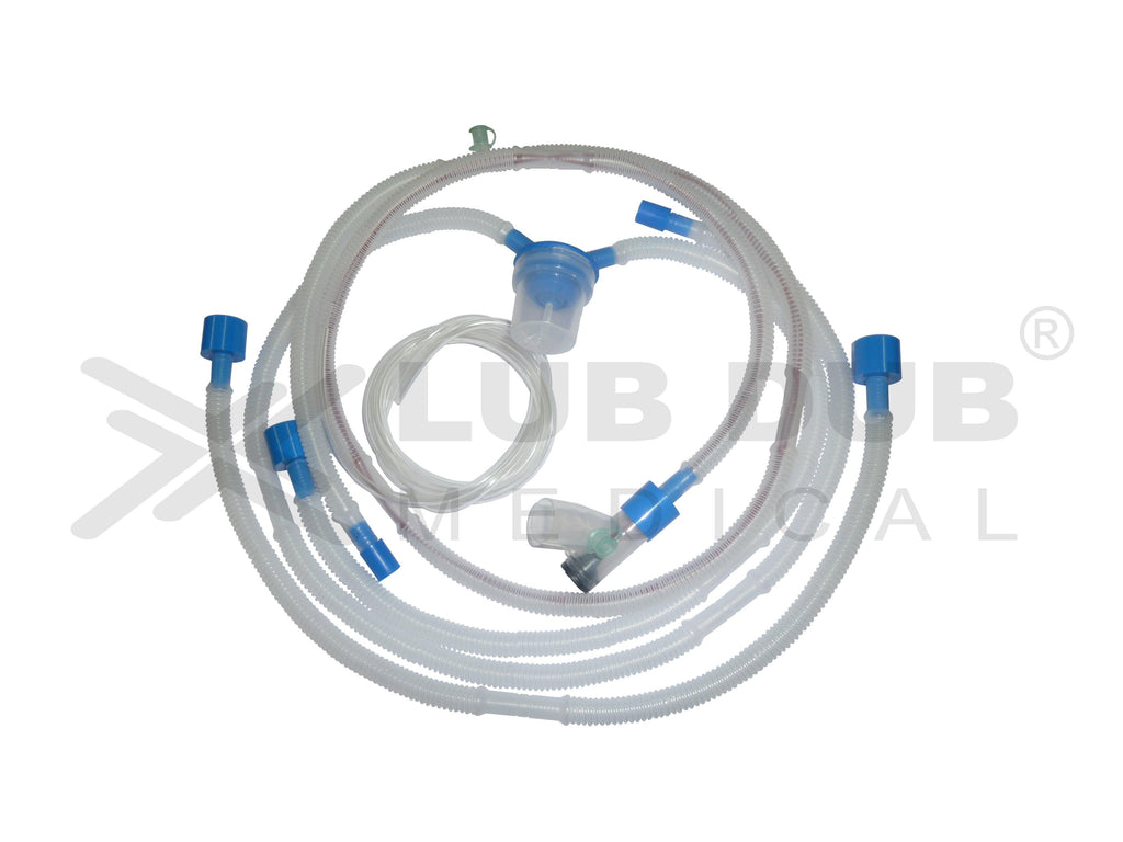 Disposable Bubble Cpap Circuit (Single Heated Single Water Trap Without Wye)