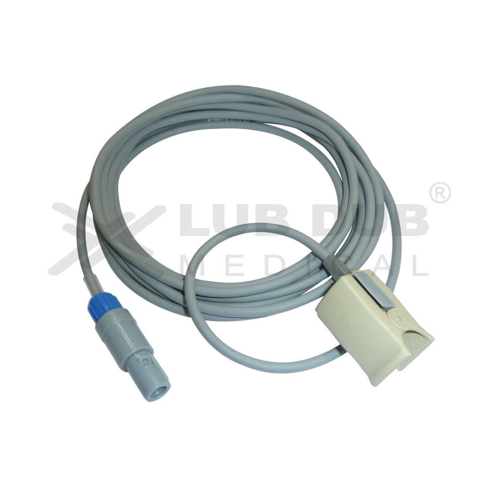Spo2 Pediatric  3 Mtr Probe Compatible with BPL Excello 7 Pin S/n Clip type