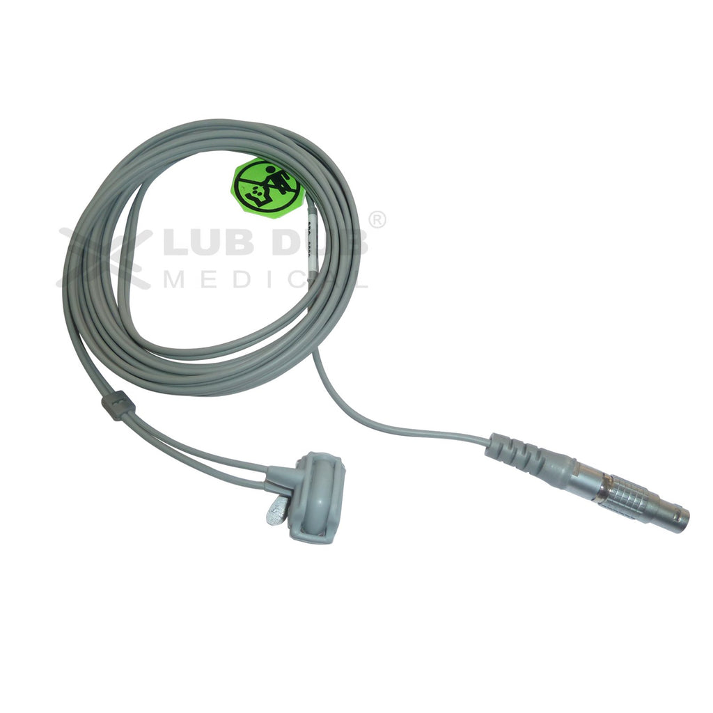 Spo2 Neonatal 3 Mtr Probe Compatible with Criticare 5 Pin Lemo Rubber type